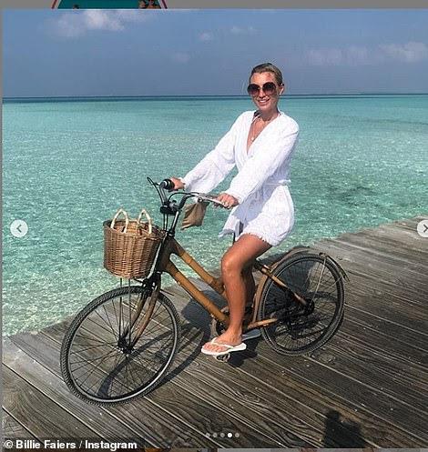 Breakaway: Following their wedding, Greg and Billie enjoyed a honeymoon on the Maldives island of Medhufaru, enjoying five days together before heading back to the UK