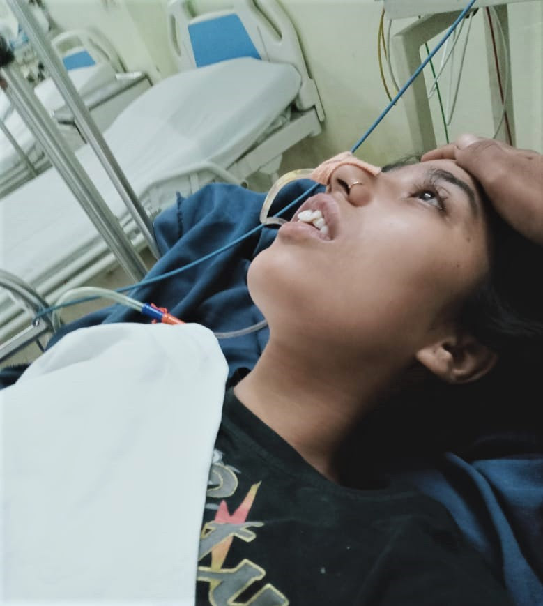 Meenu Kaur Tank after assault in Ludhiana District in Punjab state, India. (Morning Star News)
