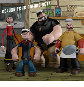 Popeye Classic Comic Strip 5 Points Deluxe Boxed Set