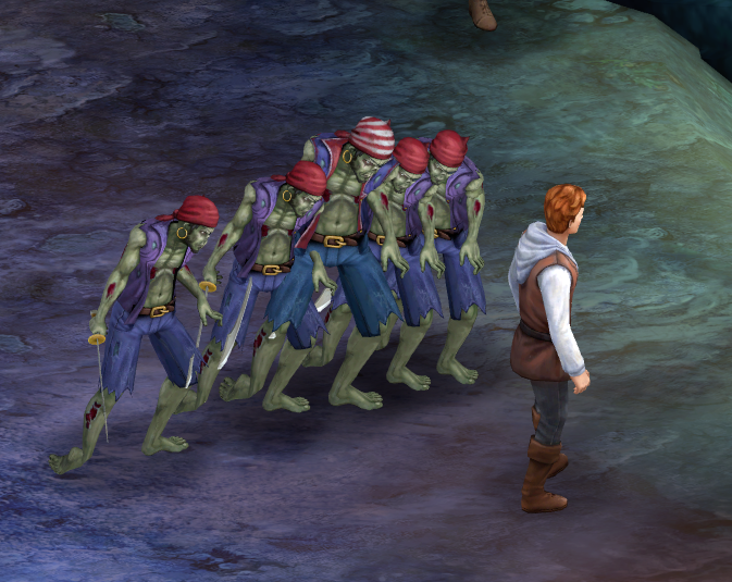 "A Zombie Chorus Line - ""Hey, watch where you're sheathing that sword!"""