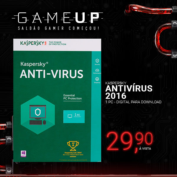 Kaspersky Antivírus 2016 1 PC - Digital para Download