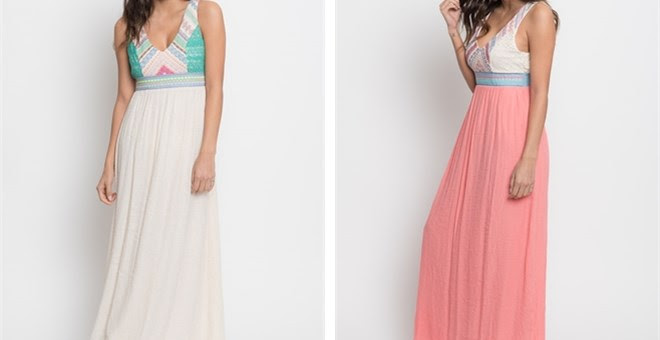 *HOT* Embroidered Maxi Dress o...