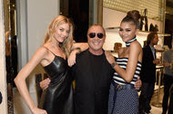 From left, Martha Hunt, Michael Kors and Zendaya at the introduction of the Kors Access smartwatch.