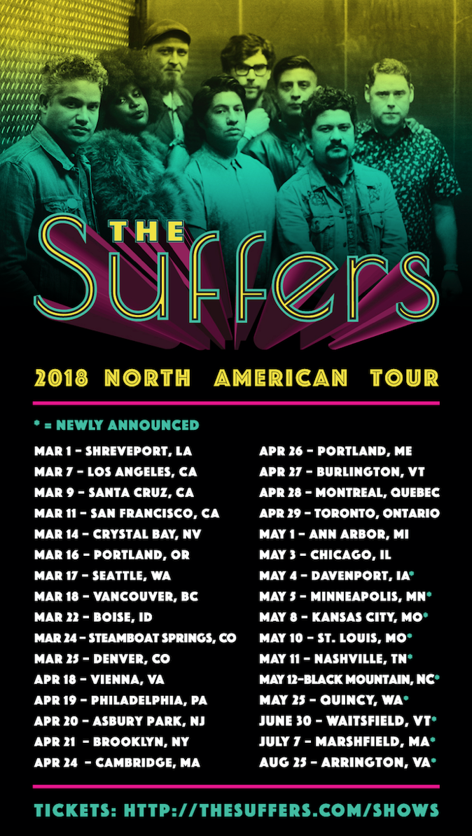 The Suffers Extend 2018 North American Tour Dates Gslm