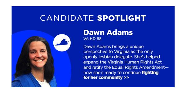 Candidate Spotlight: Dawn Adams, VA HD 68