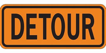 Image result for detour sign clip art