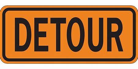 Image result for detour sign clip art