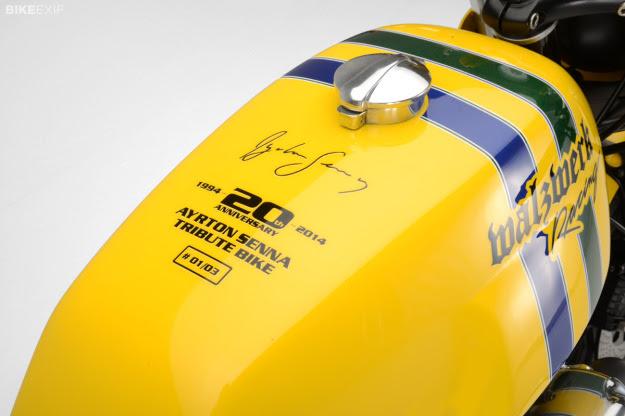 Moto Guzzi Ayrton Senna 20th Anniversary tribute motorcycle by Marcus Walz.