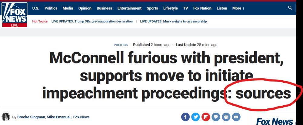 Screen shot of anti-Trump headline from Fox News