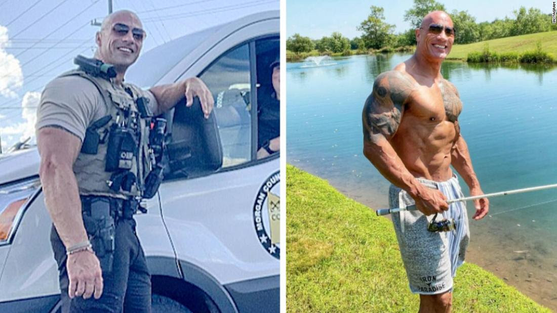 The Rock and a doppelganger