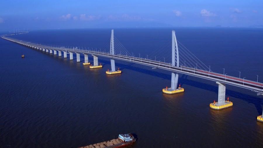 China opens world's longest sea bridge to Hong Kong & Macau