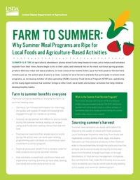 Farm to Summer Fact Sheet