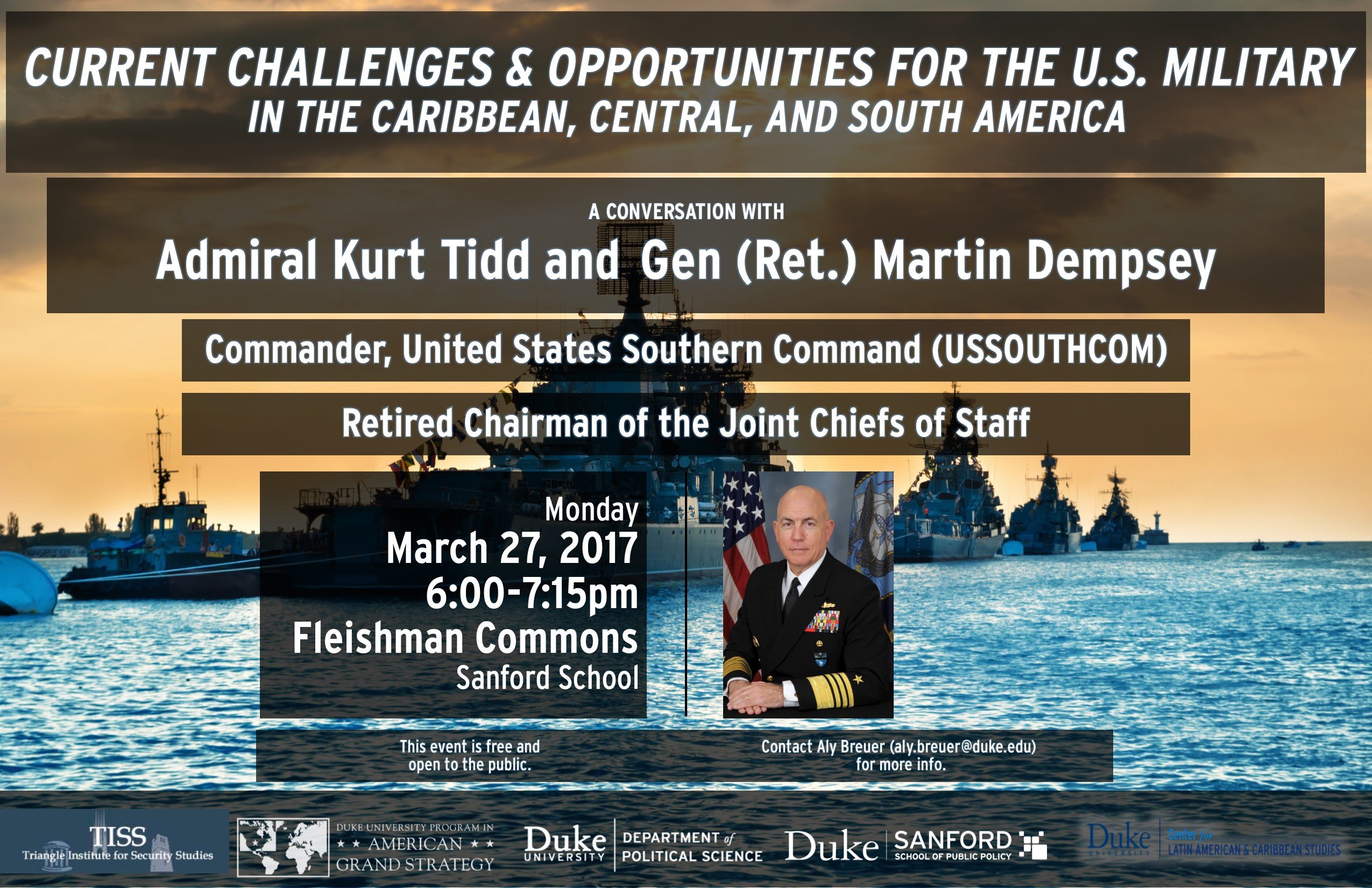Current Challenges & Opportunities for the U.S. Military in the Caribbean, Central & South America @ Fleishman Commons, Sanford School of Public Policy | Durham | North Carolina | United States