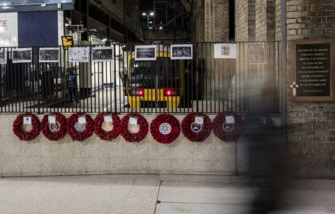 Pictures: Remembering the Unknown Warrior at Victoria Station