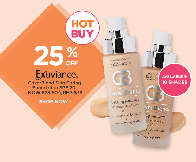 EXUVIANCE | CoverBlend Skin Caring Foundation SPF 20 25 Percent Off, NOW $28.50
