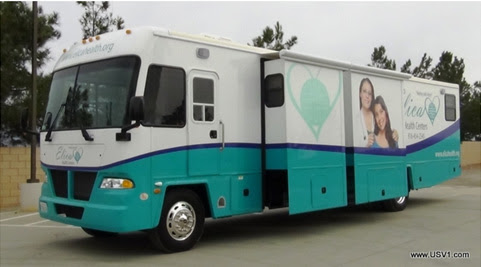 Elica Health Center's new mobile school health clinic.