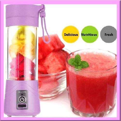 Purple-Rechargeable-Handheld-Milkshake-Smoothie-Maker