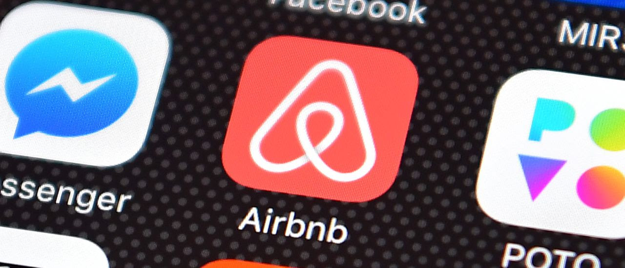 Airbnb app on a smart phone