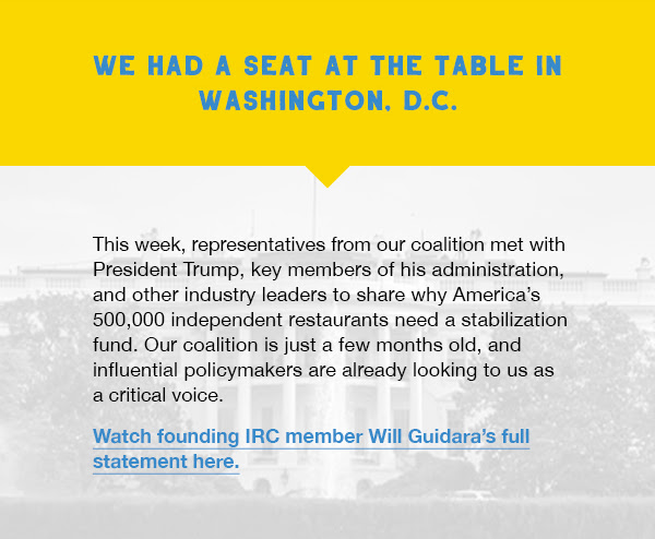 We had a seat at the table in Washington, D.C.
