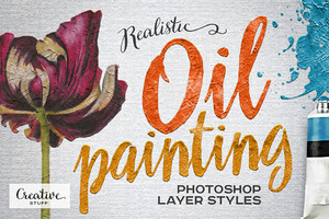 Oil Painting Photoshop Layer Styles