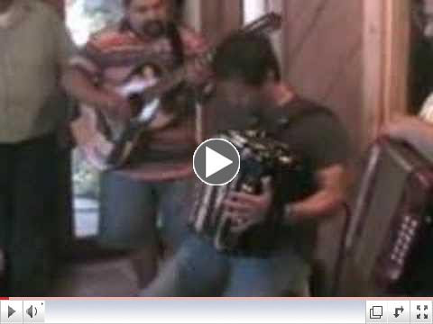 Joel Guzman at an accordion jam - fuzzy pic but clear sound!