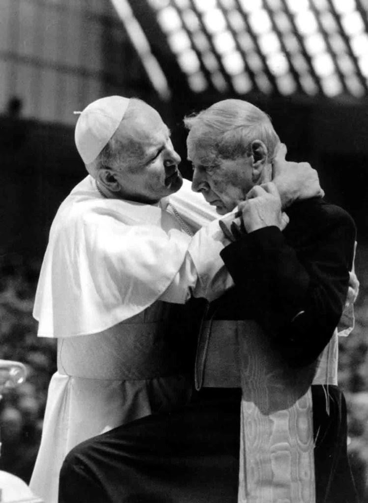 Image result for pictures of John Paul II and Cardinal Stefan Wyszynski