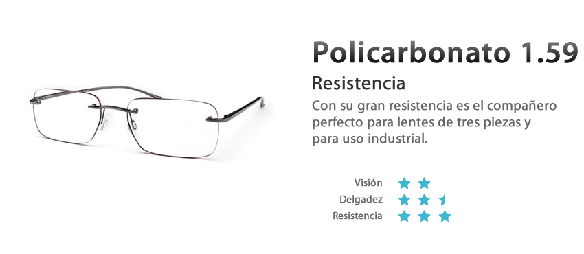 lentes policarbonato resistentes