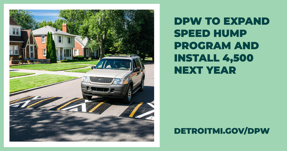 DPW Expands Speed Hump Installations