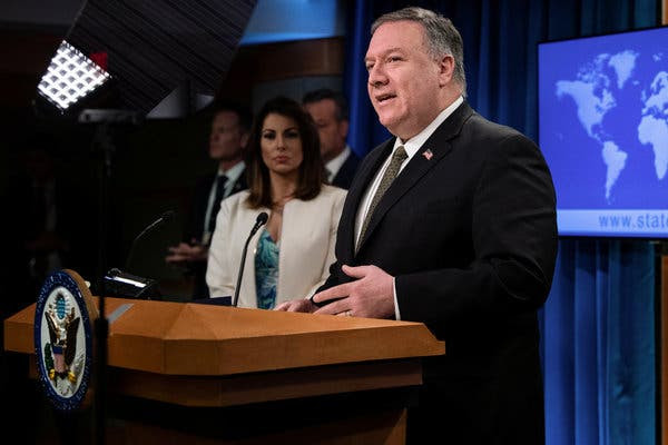 """""""We are prepared to exercise all of our diplomatic options to ensure the arms embargo stays in place at the U.N. Security Council,"""" Secretary of State Mike Pompeo said in a statement."""