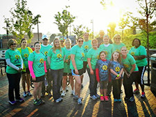 Miles Against Melanoma volunteers