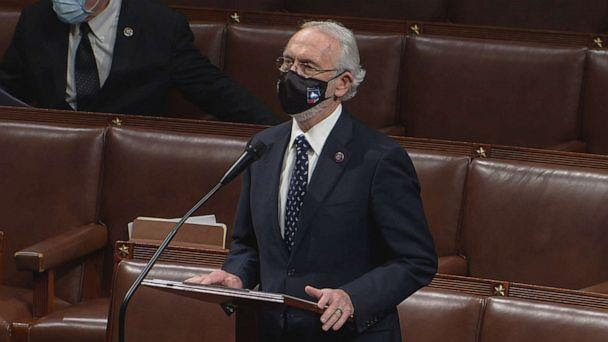 PHOTO: Rep. Dan Newhouse speaks at the U.S. Capitol while Democrats debate one article of impeachment against President Donald Trump in Washington, D.C., Jan. 13, 2021. (ABC News)