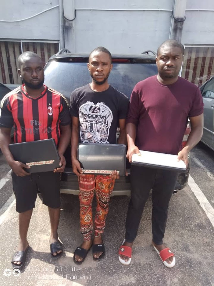 EFCC arrests Cyber criminal, two others in Benin (photos)