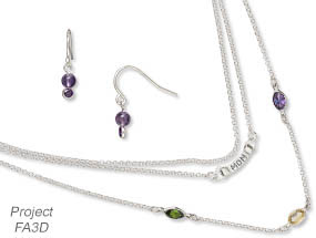 Triple-Strand Necklace and Earring Set (Project FA3D)