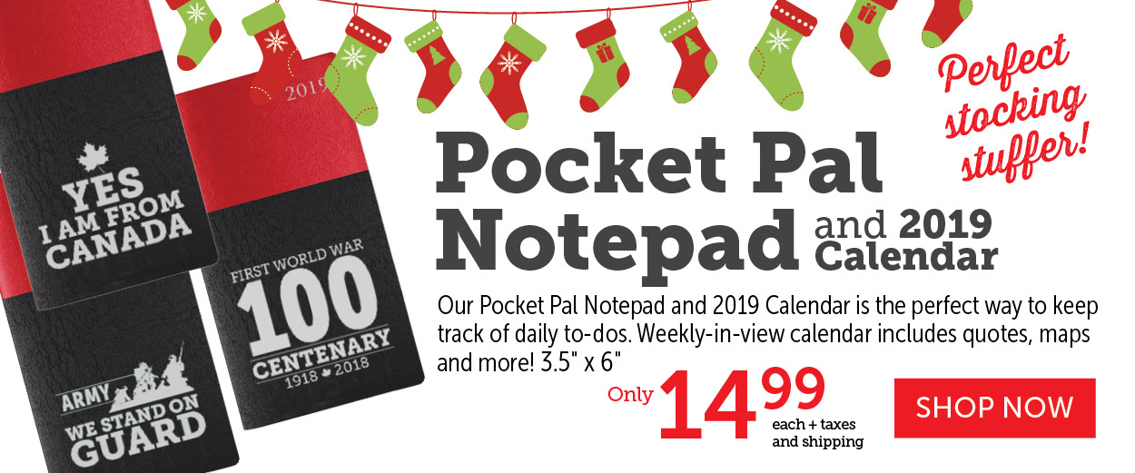 Pocket Pal Notepads and 2019 Calendars!