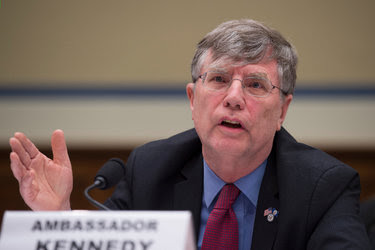 Patrick F. Kennedy, a senior State Department official, during a House Oversight and Government Reform Committee hearing last month. Mr. Kennedy was part of a long-running battle between the State Department and the intelligence agencies over Hillary Clinton's emails.