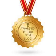 Top 80 Gem Blog Award Badge