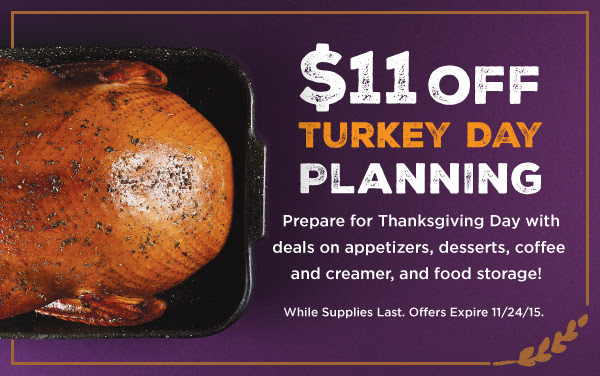 $11 off Thanksgiving Party Prep