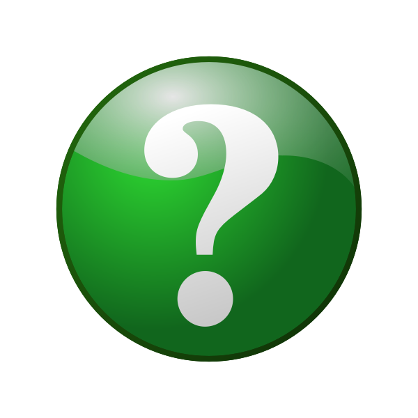 Green question mark sign vector image