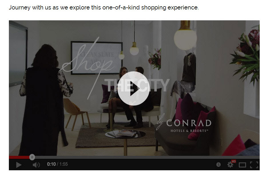 "After Miami, ""Shop the City"" by Conrad continues with stops in Dubai, Istanbul, Hong Kong, Beijing and other capitals around the world featuring a Conrad property."