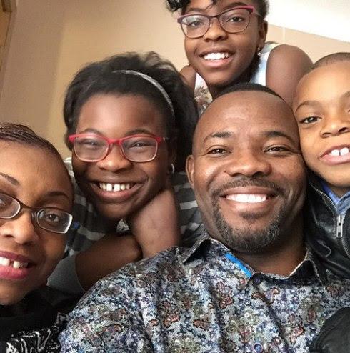 Okey Bakassi and family