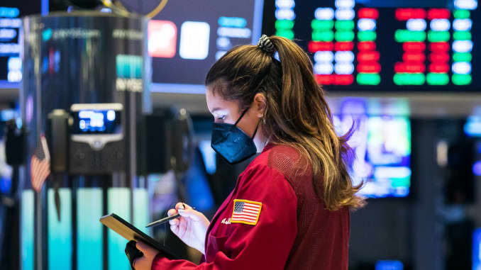 Comerciantes no pregão da Bolsa de Valores de Nova York.