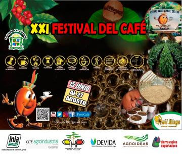 Se viene el XXI Festival Nacional del Café-Pichanaqui 2021