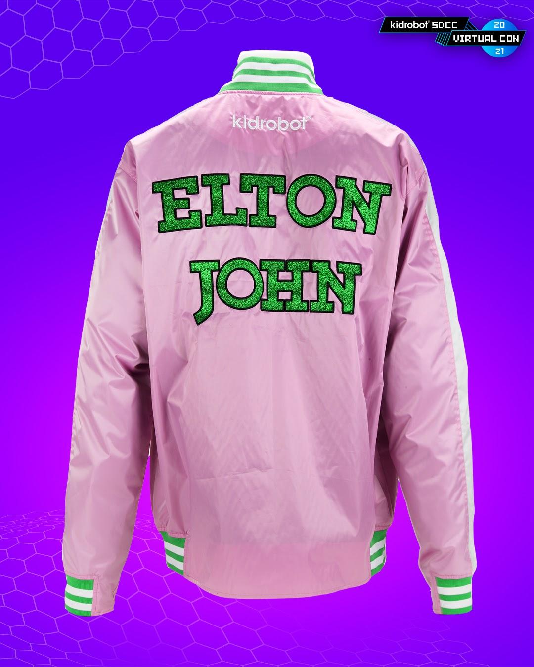 "Kidrobot x Elton John ""Goodbye Yellow Brick Road"" Satin Jacket SDCC Exclusive"