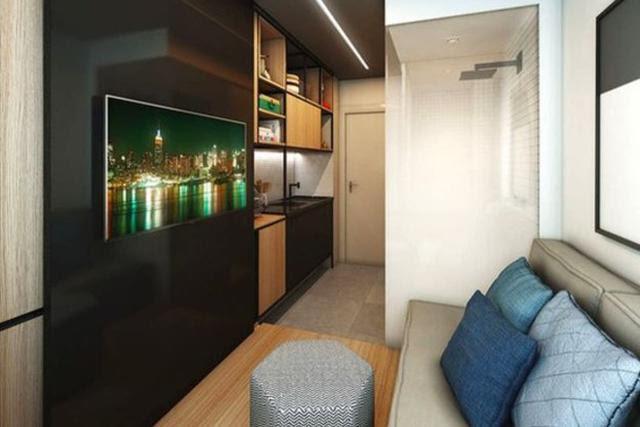 Este apartamento en San Pablo de 10 m2 se vendió a US$18.000 Crédito: VITACON