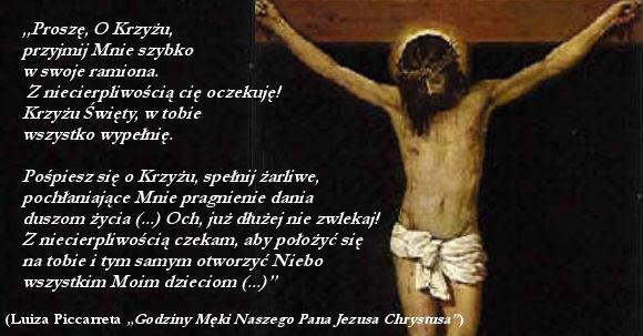 Jezus z niecierpliwością czeka, aby położyć się na Krzyżu jak na swoim łożu  boleści – Wola Boża jest esencją Boga