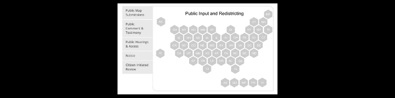 As the public has become increasingly attentive to the redistricting process, states have begun to incorporate opportunities for public input into their redistricting laws