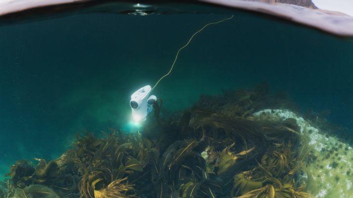 Un drone d'exploration sous-marine capable de descendre à 150m de fond