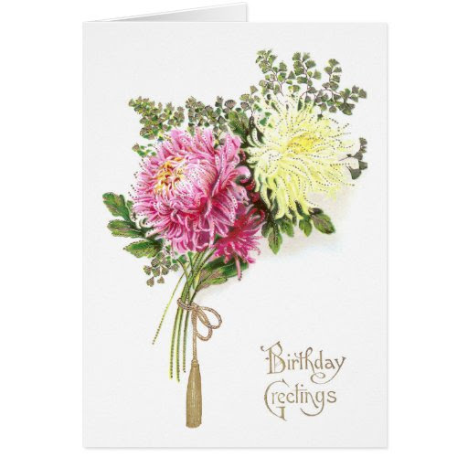 Chrysanthemum Birthday Card