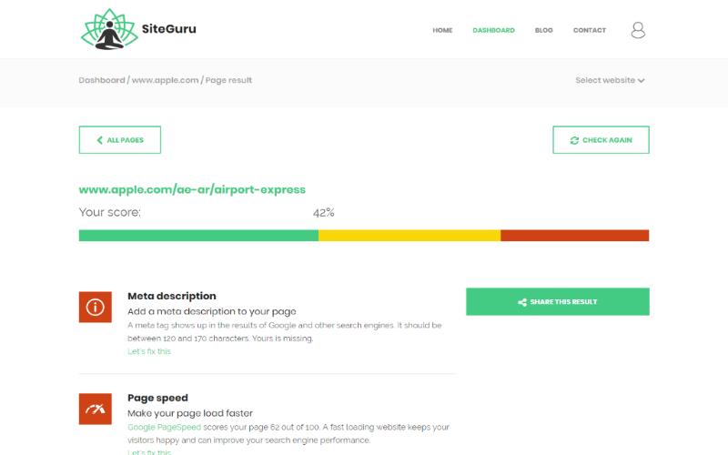 SiteGuru Website Auditor Preview 2