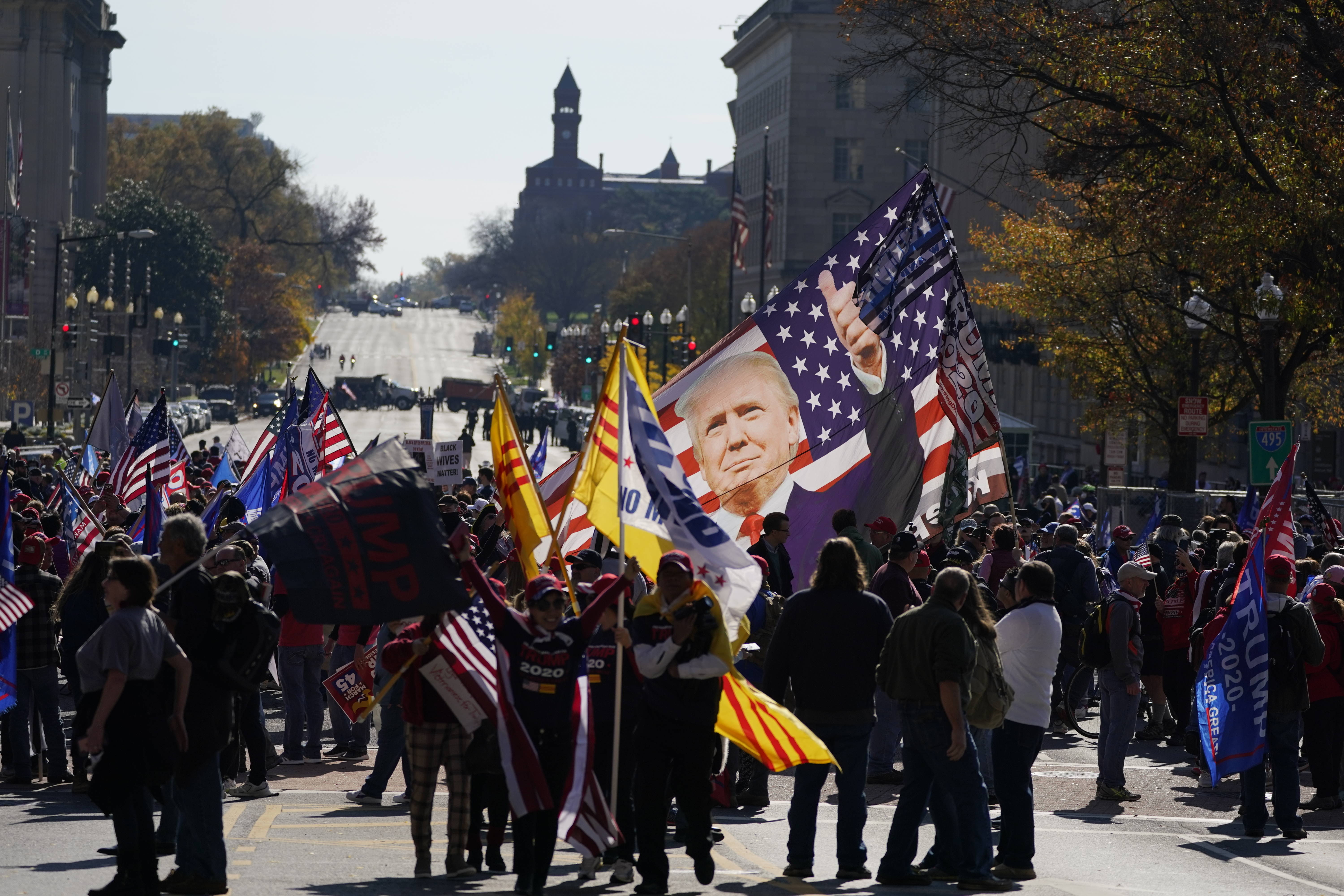 Supporters of President Trump rally on Saturday in Washington, D.C. (Julio Cortez/AP)